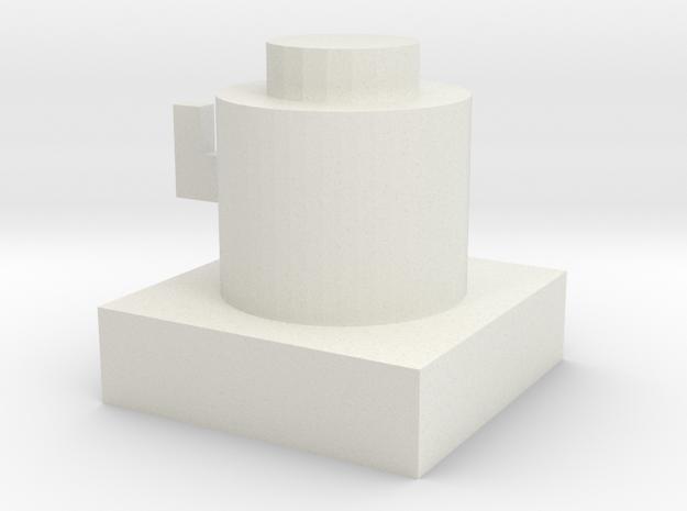 Hat Shelf in White Natural Versatile Plastic