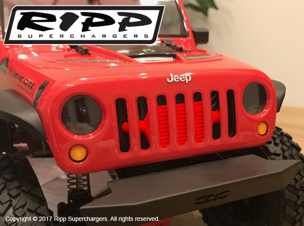 RS10006 Ripp Intercooler 2017 JK - RED in Red Processed Versatile Plastic