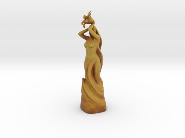 Dibella Golden Statue in Full Color Sandstone