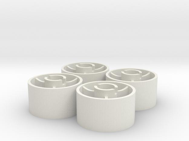 ass 4 jantes arriere D20 plat +1 in White Natural Versatile Plastic