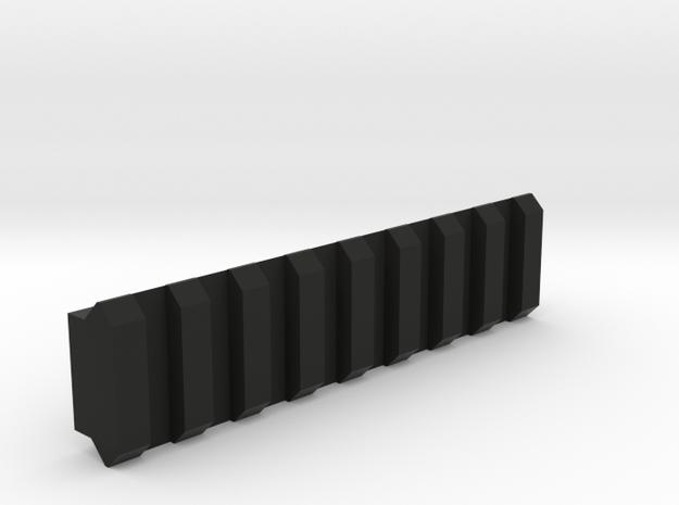Picatinny Rail in Black Premium Versatile Plastic