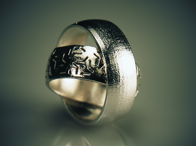 One Ring Design in Natural Silver: 7 / 54