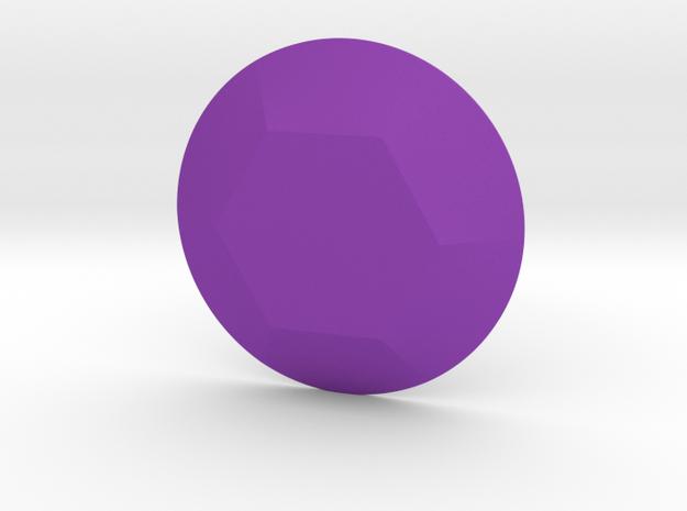 Hexagon Gem in Purple Processed Versatile Plastic