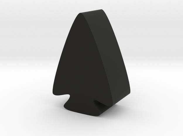 Arrowhead Game Piece in Black Natural Versatile Plastic