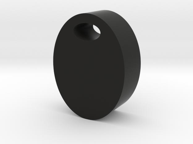 Olive Game Piece in Black Natural Versatile Plastic