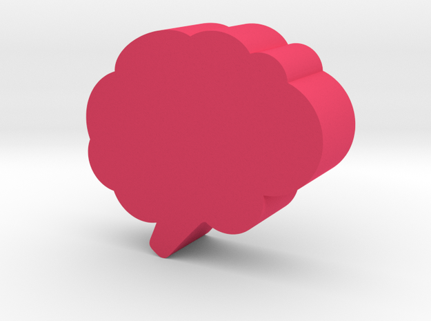 Brain Game Piece in Pink Processed Versatile Plastic