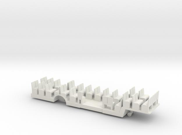 DAF busoplegger bodemplaat met banken 1op120 in White Natural Versatile Plastic