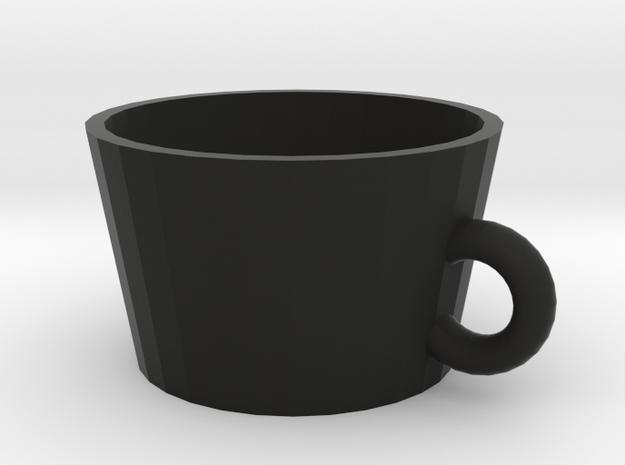 cup in Black Natural Versatile Plastic: Medium