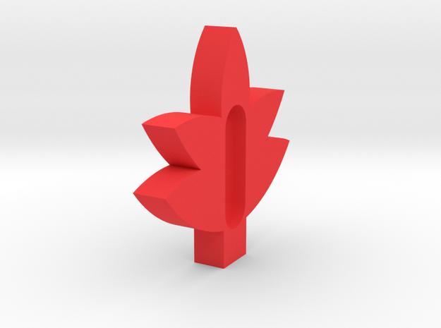 Maple Leaf soap holder.stl in Red Processed Versatile Plastic