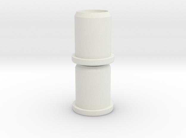 Moulton series 1&2: Rear suspension bushings in White Natural Versatile Plastic