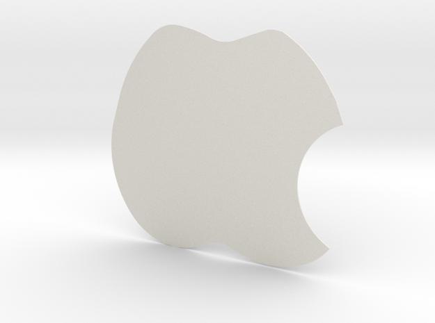 Apple in White Natural Versatile Plastic