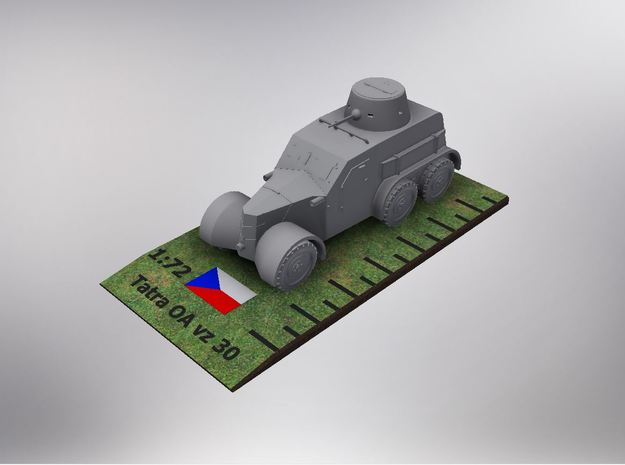 1/72nd scale Tatra OA vz. 30 in Smooth Fine Detail Plastic