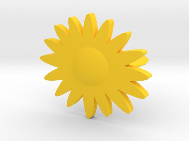 daisy ring in Yellow Processed Versatile Plastic: 7 / 54
