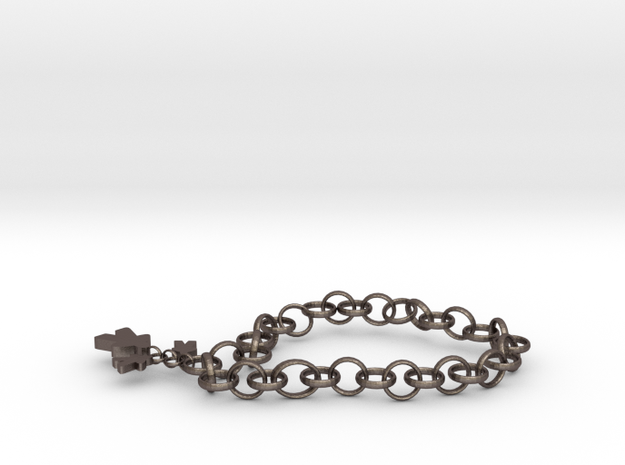 necklace in Polished Bronzed Silver Steel