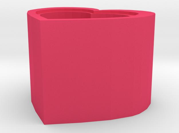 Garbage bin in Pink Processed Versatile Plastic