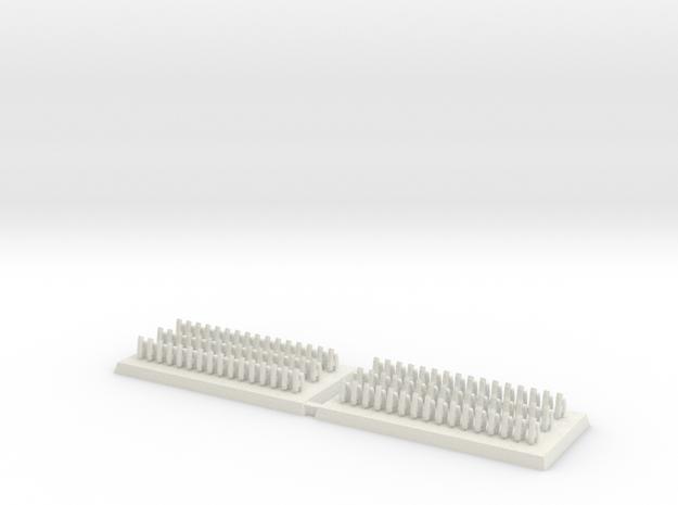 3mm DBA Bows 40x20mm (x2) v1.1 in White Natural Versatile Plastic