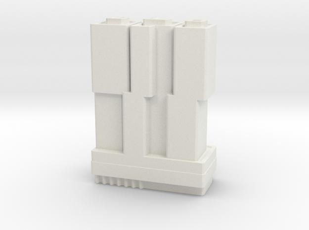 De Rotterdam - Rotterdam (1:4000) in White Natural Versatile Plastic: 1:3900