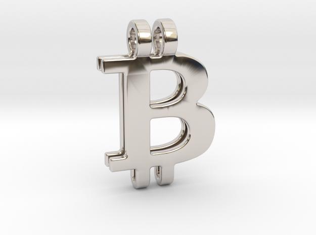 Bitcoin Pendant in Platinum