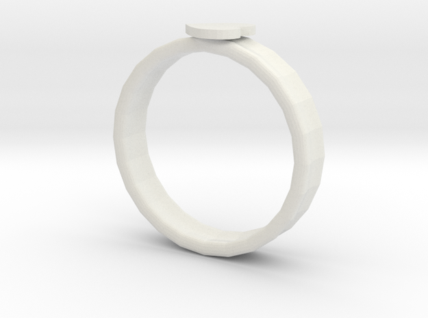 heart shape ring in White Natural Versatile Plastic