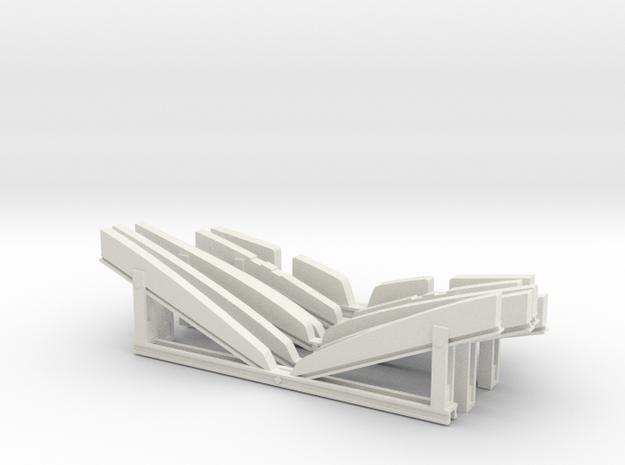 1/20 US PT Class Elco Cradle Parts in White Natural Versatile Plastic