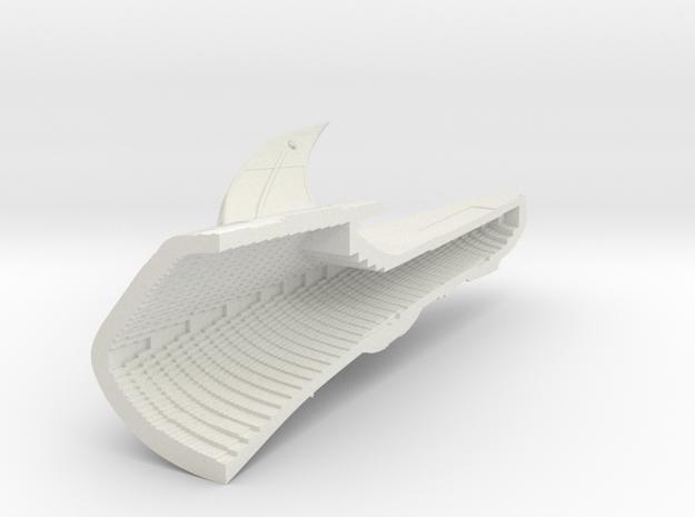 1400 Aventine Hull 4 in White Natural Versatile Plastic