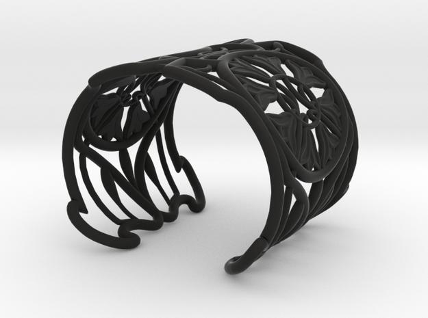 "Bracelet ""Jolie"" in Black Natural Versatile Plastic: Small"