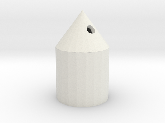 Rocket toothpick cans in White Natural Versatile Plastic