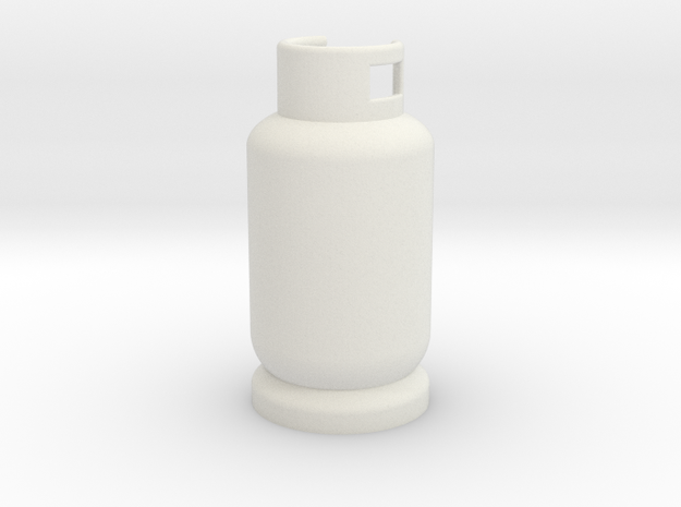 Scale 1/10 gas tank butane in White Natural Versatile Plastic