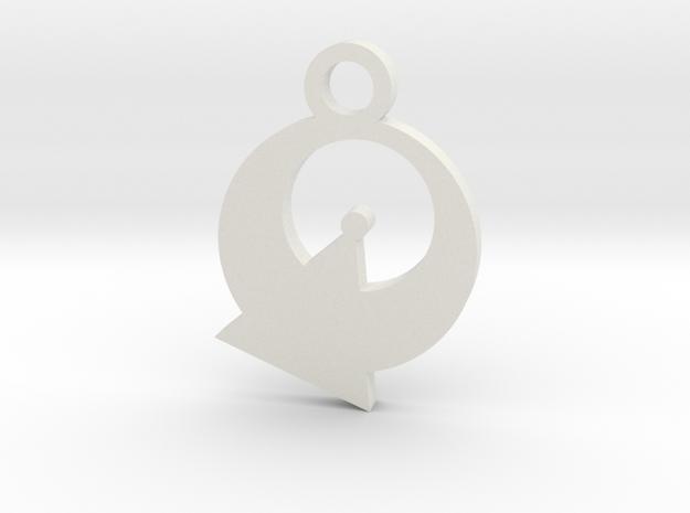 Vulcan Silhouette Charm in White Natural Versatile Plastic