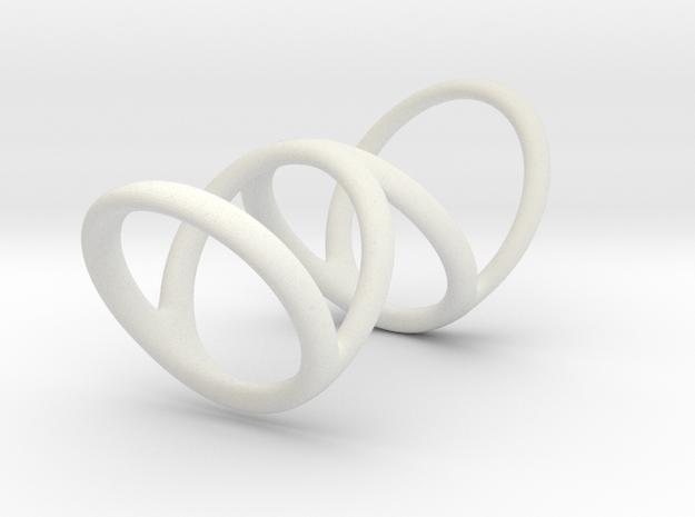 Right ring (camallama) in White Natural Versatile Plastic