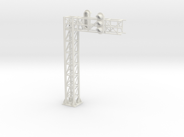 one track block signal HO scale in White Natural Versatile Plastic