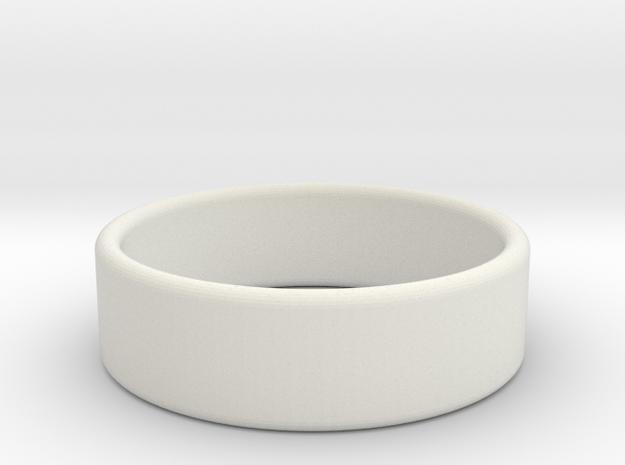 Pearl ring in White Natural Versatile Plastic