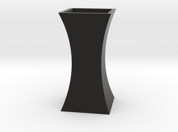 Curved Flower Vase - Black in Black Strong & Flexible