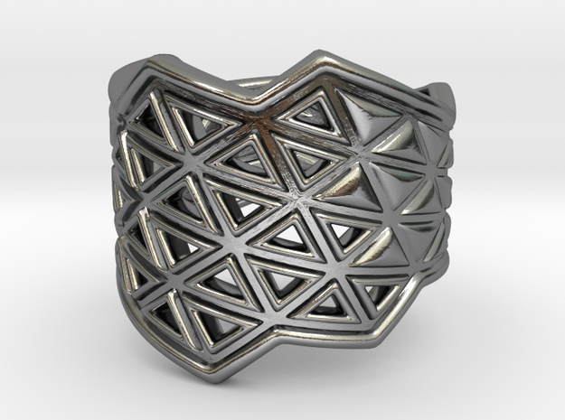 Phylloframe Ring 1 in Polished Silver