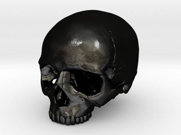SKULL 23mm / 0.9in in Matte Black Steel