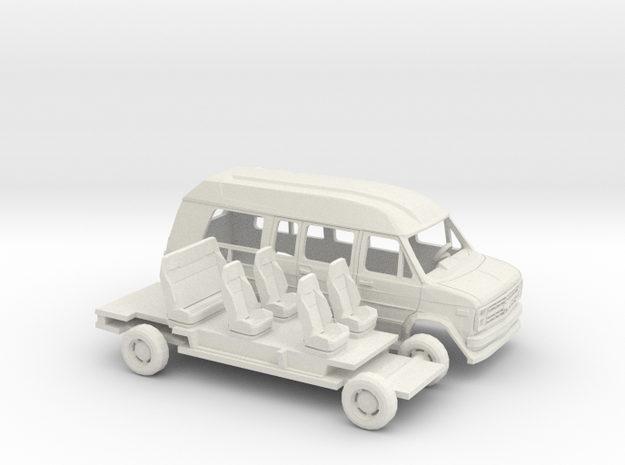 1/43 1988 Chevrolet G Van Conversion Kit in White Natural Versatile Plastic