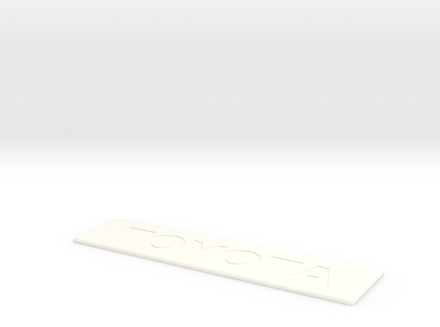 Toyota Floor Mat Badge for WeatherTech  in White Processed Versatile Plastic