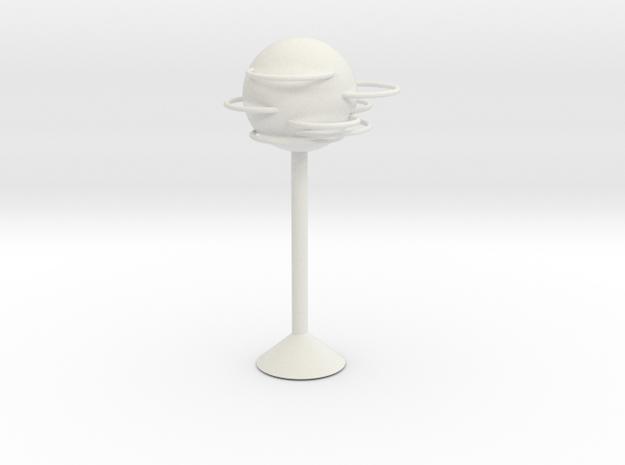 Round lamps in White Natural Versatile Plastic