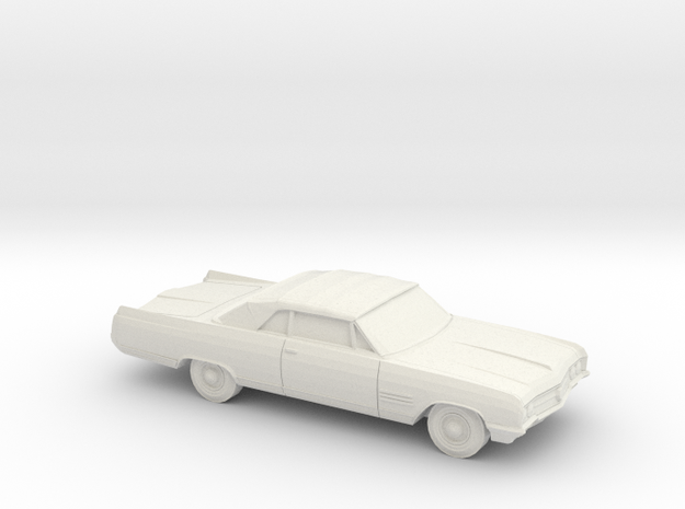1/87 1964 Buick Wildcat Convertible in White Natural Versatile Plastic