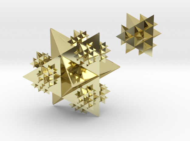 Tetrahedral earring in 18k Gold Plated Brass