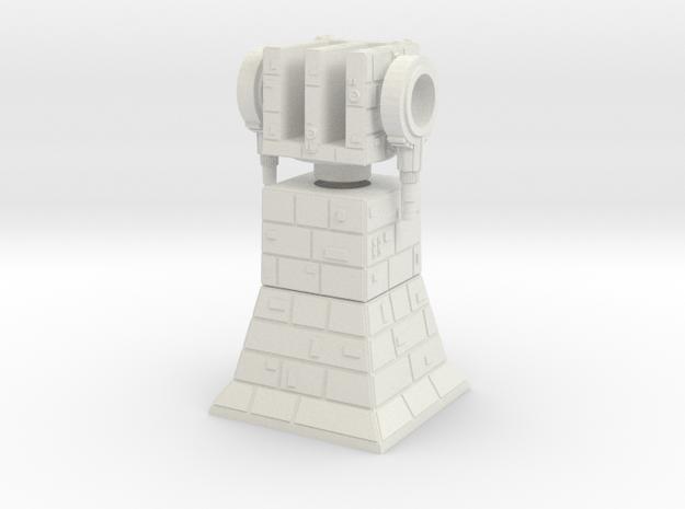 Turbolaser Tower in White Natural Versatile Plastic