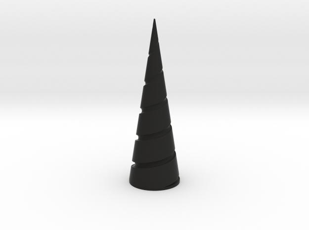 Unicorn Horn in White Processed Versatile Plastic