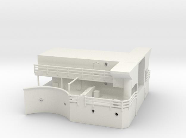 Best Cost 1/192 USN BB59 mk51 platform (bellow par in White Natural Versatile Plastic