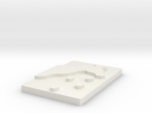 Horse footprint in White Natural Versatile Plastic