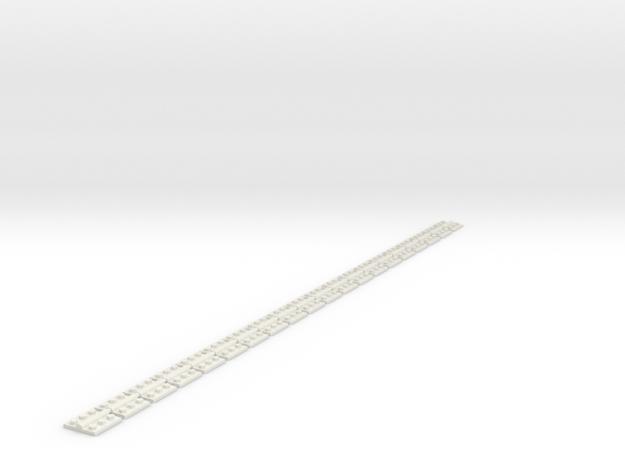 1inchHinge in White Natural Versatile Plastic