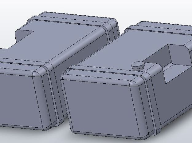 1:64 scale Frame Mounted Fuel Tanks 3d printed