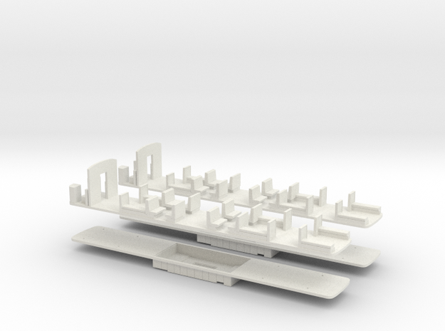 2x-Seat-and-Motor-Chassis-F and D Series in White Natural Versatile Plastic