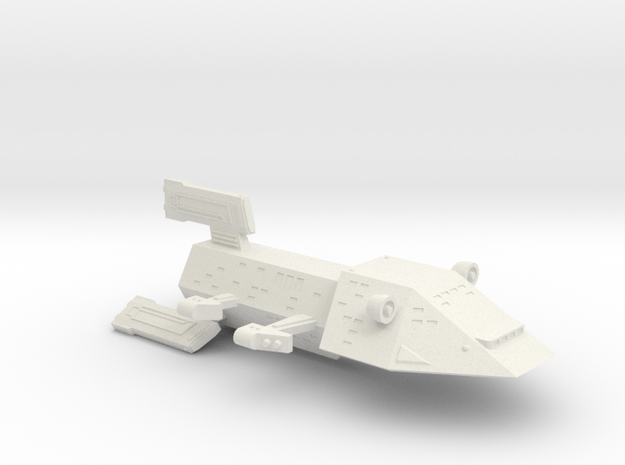 3125 Scale Kzinti Battlecruiser (BC) SRZ in White Natural Versatile Plastic