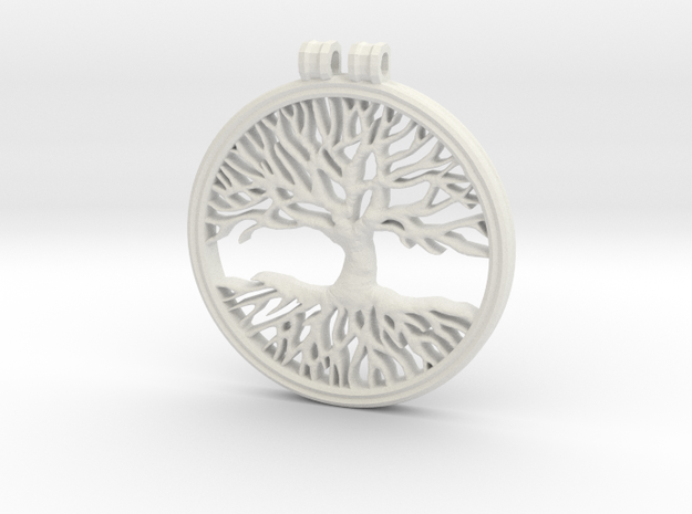 The Tree Of Life in White Natural Versatile Plastic
