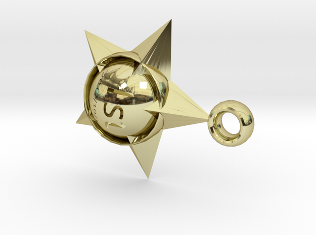medal in 18k Gold Plated Brass